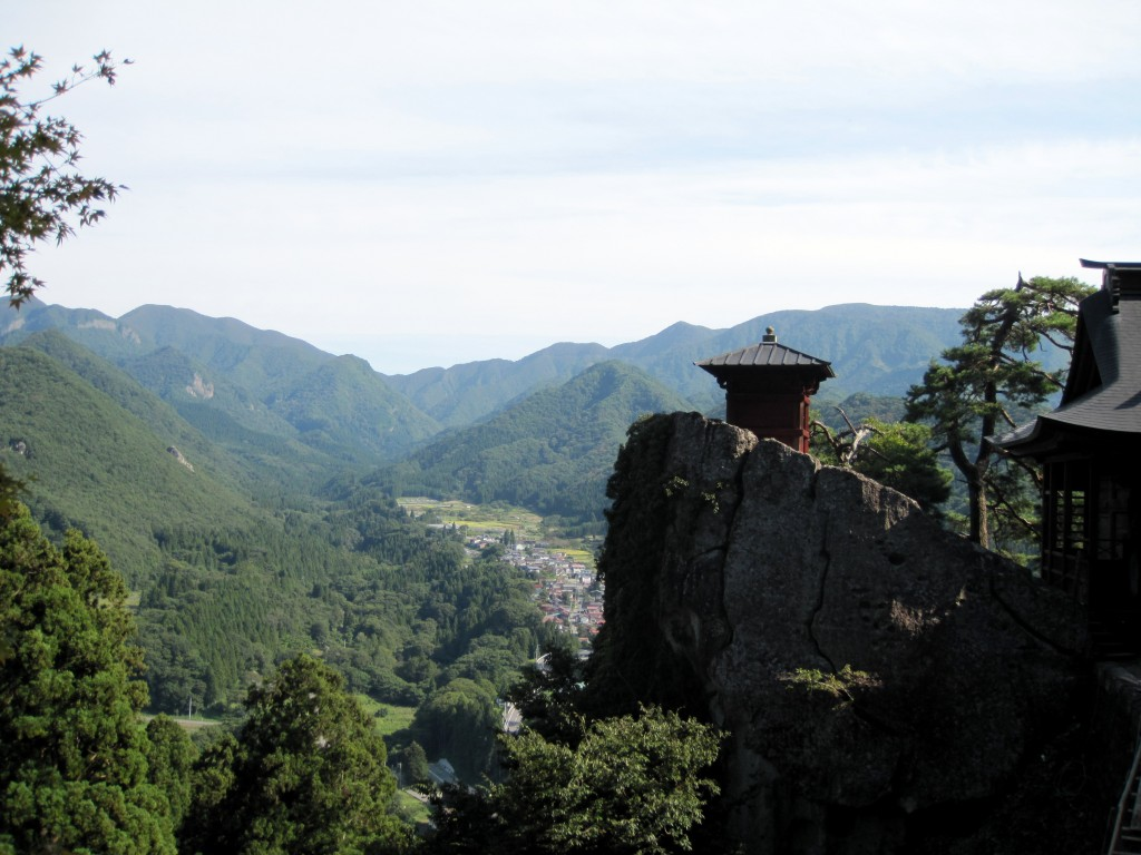 One of the mountaintop temples at Yamadera. Be prepared to climb 1,000 steps to reach the top of this mountain!