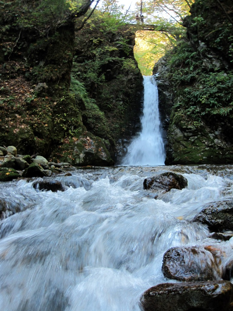 A waterfall at Okunikkawa, Miyagi Prefecture, Japan.