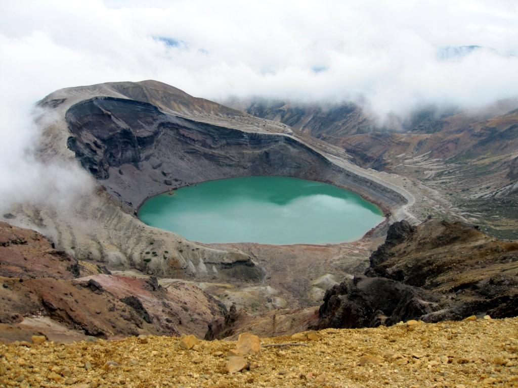 Okuma Crater on top of Mount Zao.