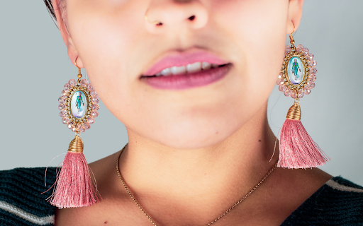 Pink Bold Earrings